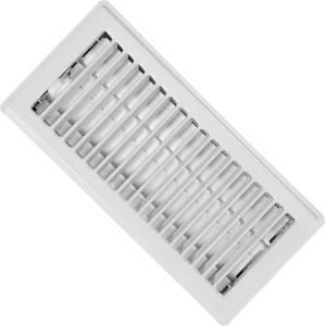 """( Pack Of 36 ) RG0222 Standard Floor Registers - Louvered Design - Steel - White Painted - 3""""x 10"""" Floor Register"""