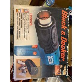 Heat Gun paint stripper-Black & Decker 1200w with accessories
