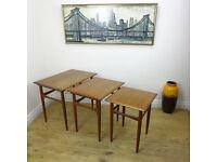 Vintage DANISH Nest of Tables by KAI KRISTIANSEN Brouer Teak/Vintage/Mid Century 50's/60's/70's