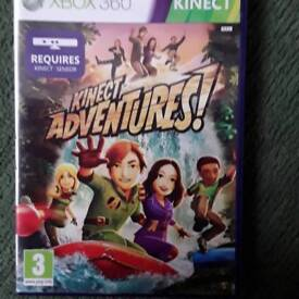 X box 360 Kinect game. Kinect adventures used
