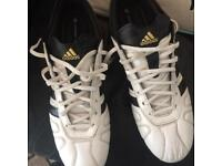 Adidas adipure gold black n white football boots