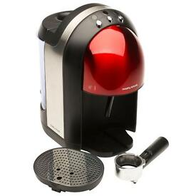 Brushed red Morphy Richards coffee machine