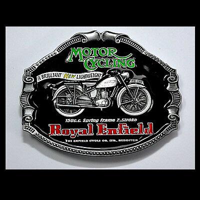 Royal Enfield Belt Buckle Vintage Motorcycle Motorrad Gürtelschnalle *047