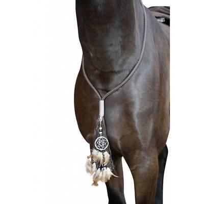 Kette Hals Halfter (HALSSCHMUCK FÜR PFERDE Pferdekette bezaubernd Federn 120/140cm viele Farben)