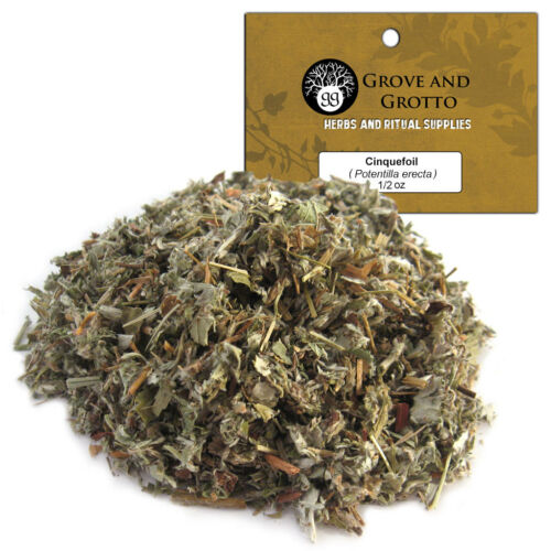 Cinquefoil 1/2 oz Package Ritual Herb Wildcrafted Five Finger Grass C/S