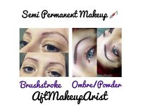 Semi Permanent Makeup - Brows Lips Eyeliner by Ajt Makeup Artist
