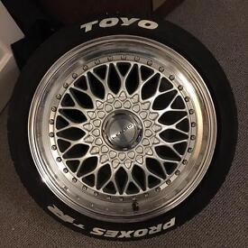 Lenso bsx alloy wheels deep dish 17 inch 5x112 5x110