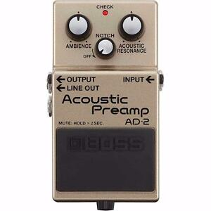 AD-2 ACOUSTIC GUITAR PREAMP PEDAL