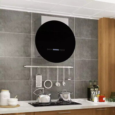 Wall Mounted Range Hood LCD Display Touch Sensor 756 m³/h LED Cooker Hood