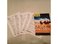 GCSE English Past papers (AQA Unit 1, Higher) & York Notes for 'Of Mice and Men'