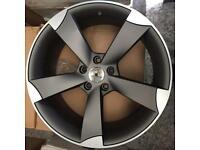New Audi TTRS black edition style alloy wheels 19 inch grey 5x112
