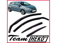 Brand New HEKO Wind Deflectors for Ford Fiesta 5 doors mk7 2008 - 2017 4pc Hatchback