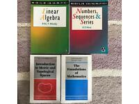 A selection of Maths undergrad textbooks