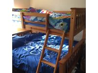 Excellent condition Double & Single Wooden Bunk Bed