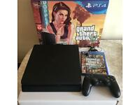 PlayStation PS4 with Grand Theft Auto V