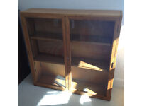 Vintage, antique book case or display case with lockable glass doors.