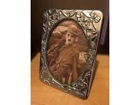 Vintage sliver plate small picture frame