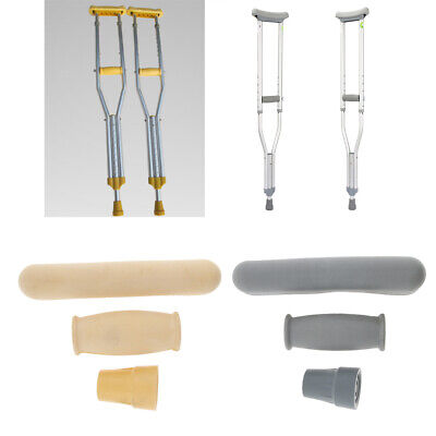 Rubber Crutch Replacement Part Pad/Tip Anti-slid Cane Handles Grip Covers