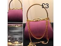 2 x vintage style handbags