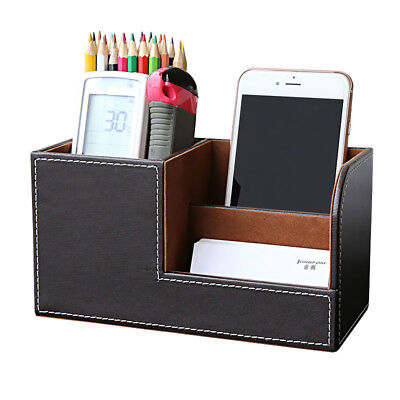 Home Office Mesh Bin Desk Organizer Set Stationary Tray Holder Pen -brown