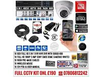 1 Cameras Full HD CCTV KIT, 8CH FULL HD XVR DVR, 1x 2.4MP Dome Cameras
