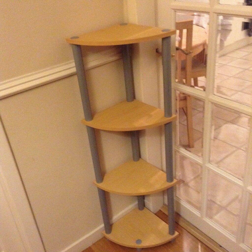 Light wood veneer corner unit