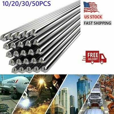 10-50pcs 21.6mmx50cm Super Melt Flux Cored Aluminum Easy Solution Welding Rods