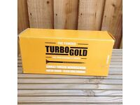 New Sealed Turbo Gold Wood Screws 6.0 x 180mm