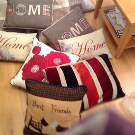 Beautiful high street cushions M&S etc