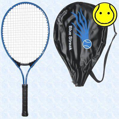 Blue Streak Junior 19 inch Tennis Racquet Strung with Cover