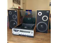 Binatone Vintage Record Player & Speakers