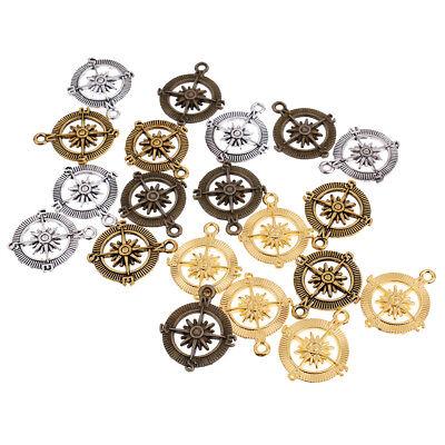 20pcs Legierung Vintage Kompass Anhänger DIY Schmuck für Halskette Armband