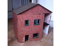 Vintage Tatty Dolls House Toy in Need of Attention Can Be Used as Display Shelf / Can Deliver