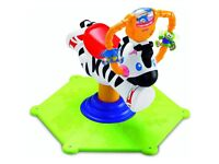 Fisher Price Bouncy Zebra as NEW! with box RRP £65