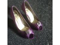Cadbury purple size 4 shoes