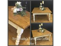 STUNNING SOLID NEW PINE HANDMADE COFFEE TABLE