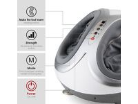 Amzdeal Foot Massager with Heat option Shiatsu Air Pro White