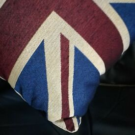 Union Jack cushion and draught excluder set