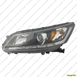 Head Lamp Driver Side Sedan With Drl Halogen 3.5 Liter Sedan Ex-L Models High Quality Honda Accord 2013-2015