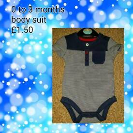 Baby boys clothes 0 to 3 months. Information on photos