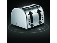 Brand New Russell Hobbs Legacy 4-Slice Toaster - Polished Stainless Steel Silver