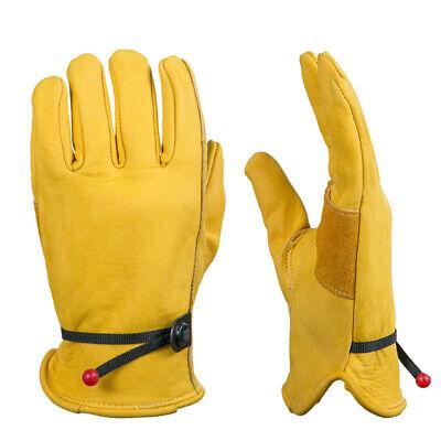 1 Paar Arbeitsschutzhandschuhe Schweißschutz Handschuhe aus Leder für