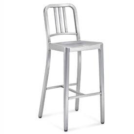 Navy Style Aluminium stool - £20