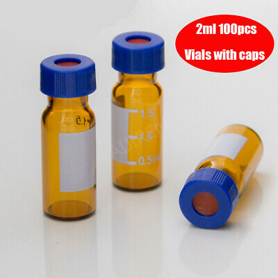 Premium Vials Amber Glass Vial With Screw Cap 2ml Capacity Amber100pcspack