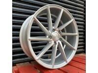 """18"""" 5x112 Alloys Silver Polished New Wheels VW Golf Audi A3 Seat Skoda"""