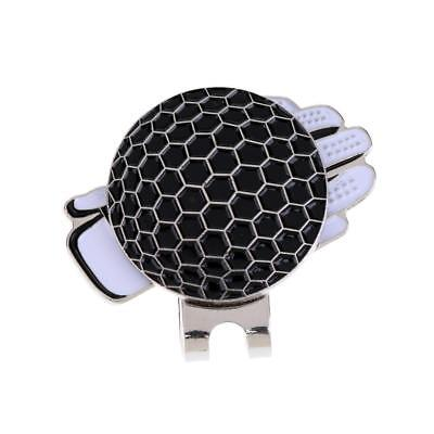 Stainless Steel Cool Glove Golf Ball Marker & Magnetic Hat Clip Gift Black (Cool Ball Marker)