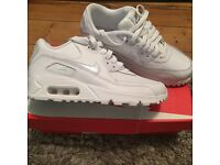 White air max trainers size 4