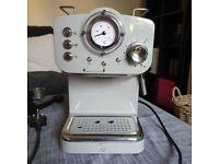 Grey Espresso Coffee Machine, 15 Bars of Pressure, Milk Frother, 1.2L Tank, SK22110GRN
