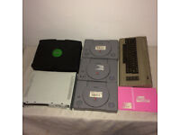 Collection of 7 Games Consoles inc. 3 x Sony Playstation 1 PS1 Commodore 64 + Microsoft Xbox 360