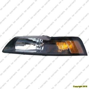 Head Lamp Driver Side Black Bezel High Quality Ford Mustang 2001-2004
